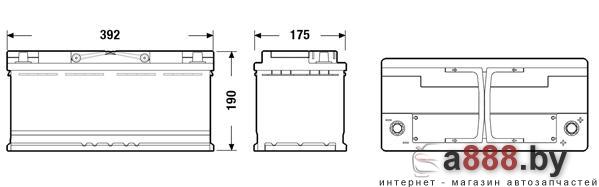 Exide AGM EK1050 (105 А/ч)